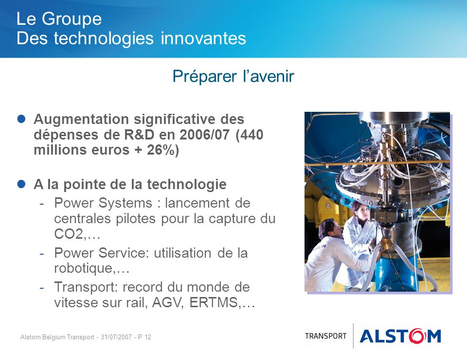 Le Groupe Des technologies innovantes