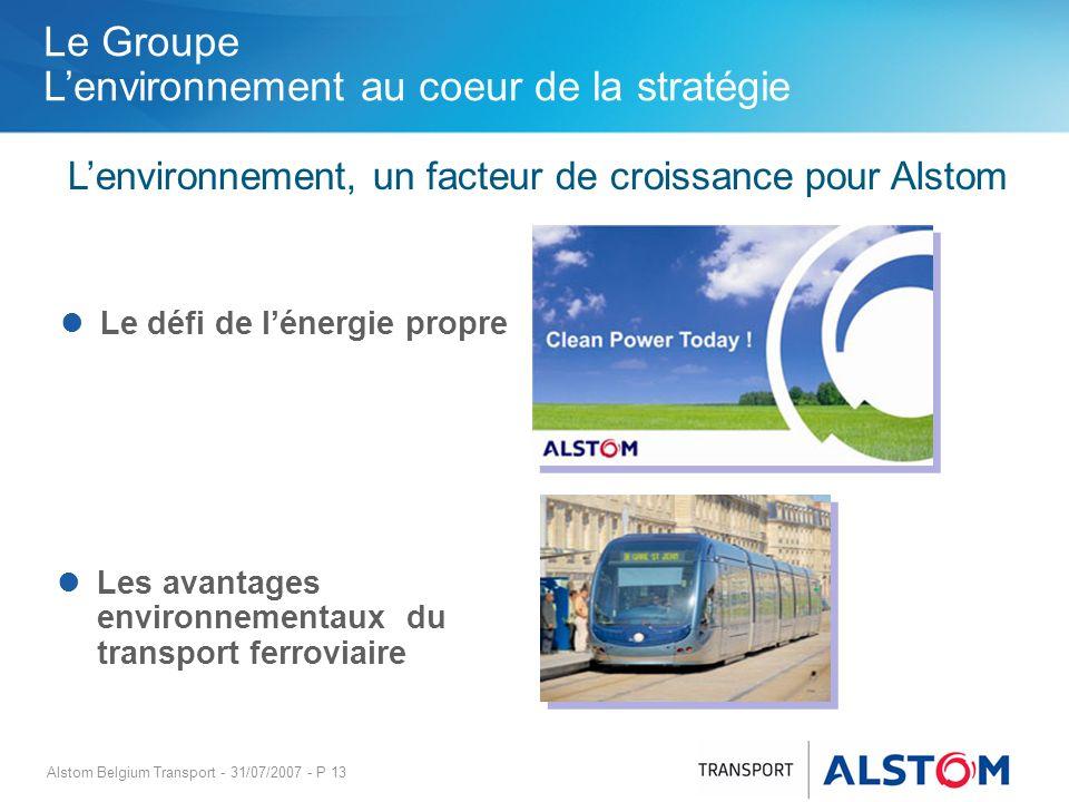 L'environnement, un facteur de croissance pour Alstom