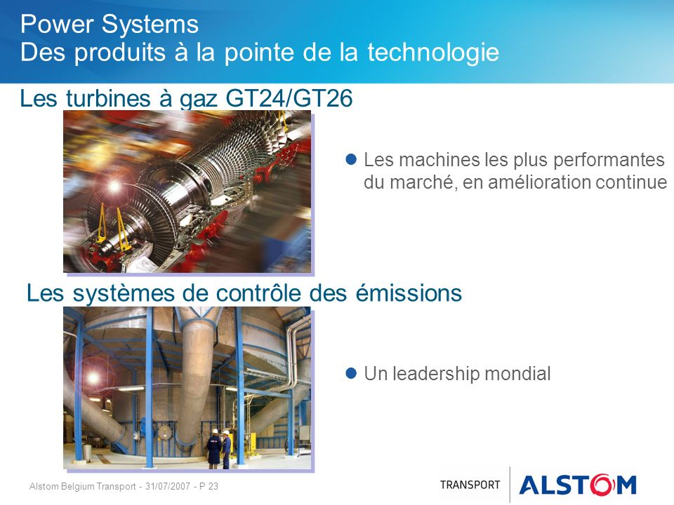 Power Systems Des produits à la pointe de la technologie