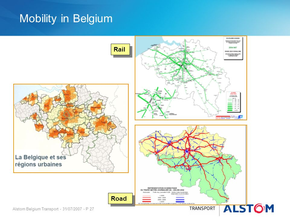 Mobility in Belgium Rail Road
