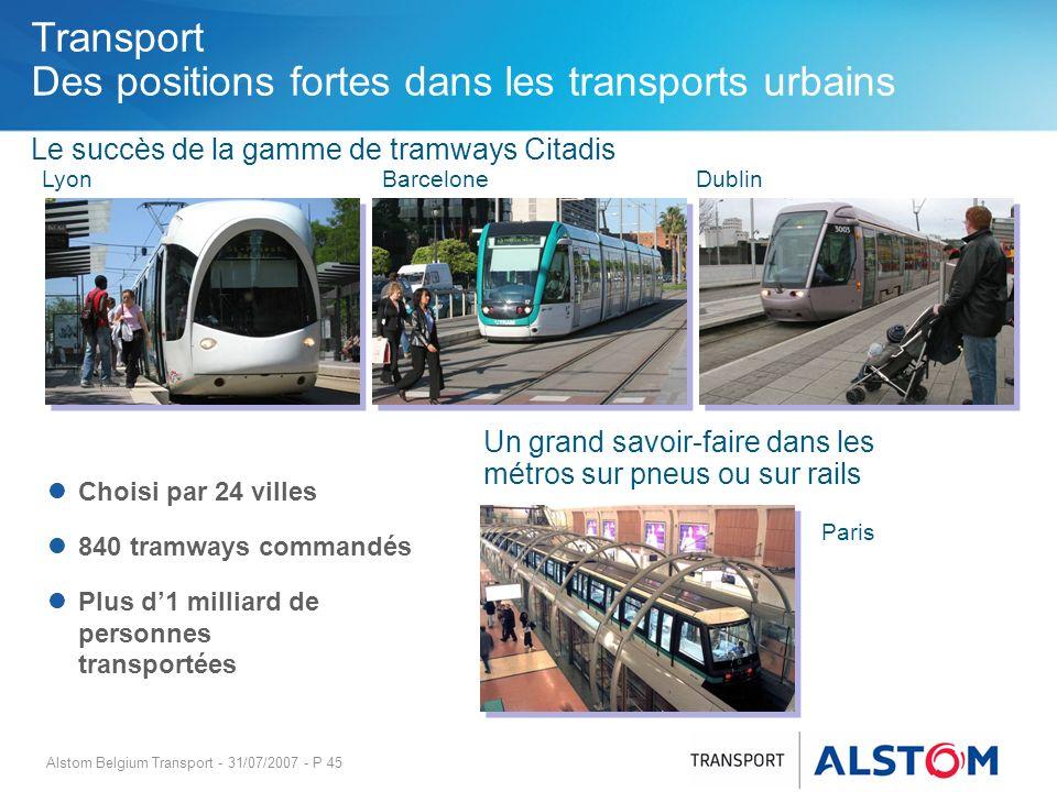 Transport Des positions fortes dans les transports urbains