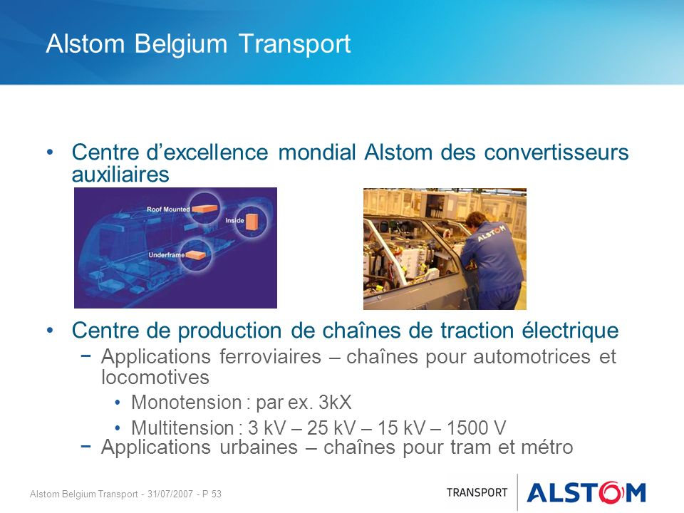 Alstom Belgium Transport