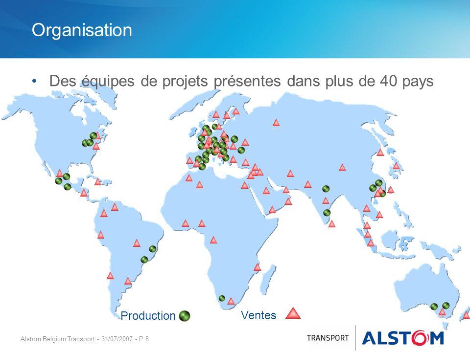 Organisation Des équipes de projets présentes dans plus de 40 pays
