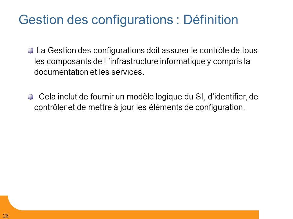 Gestion des configurations : Définition