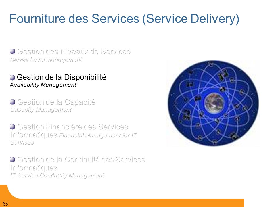 Fourniture des Services (Service Delivery)‏