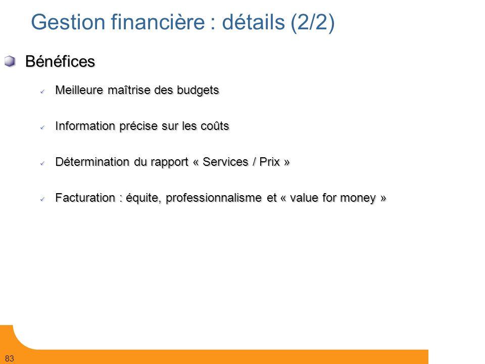 Gestion financière : détails (2/2)