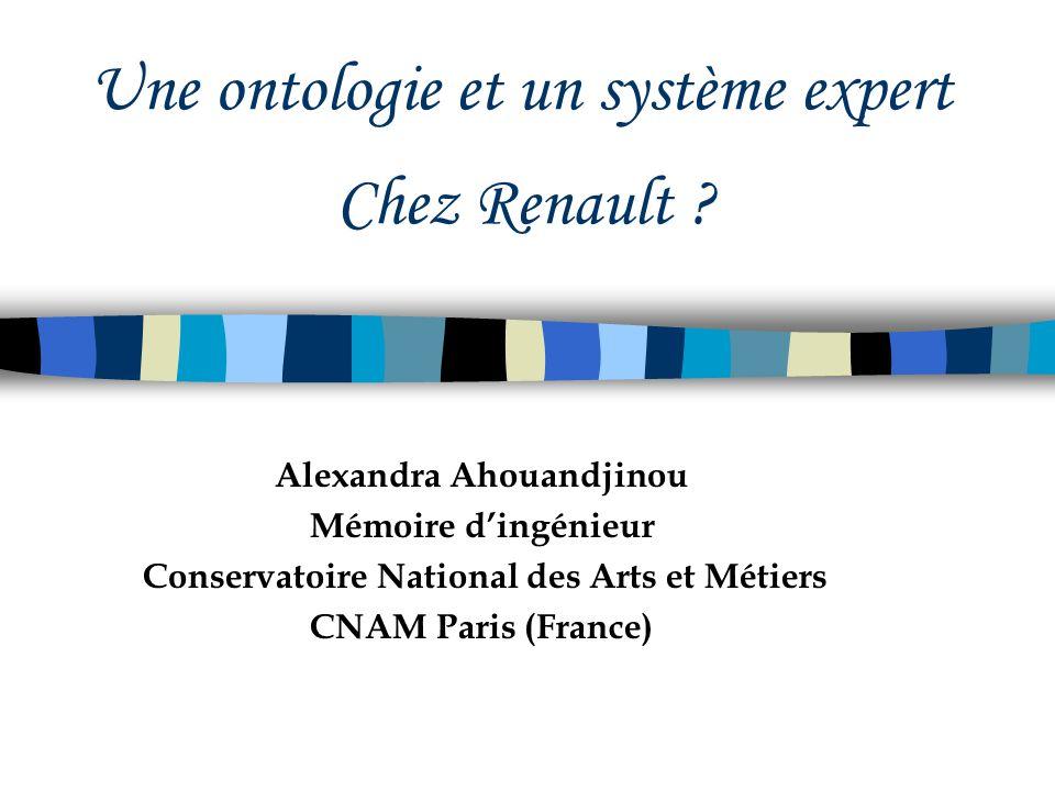 Une ontologie et un système expert Chez Renault
