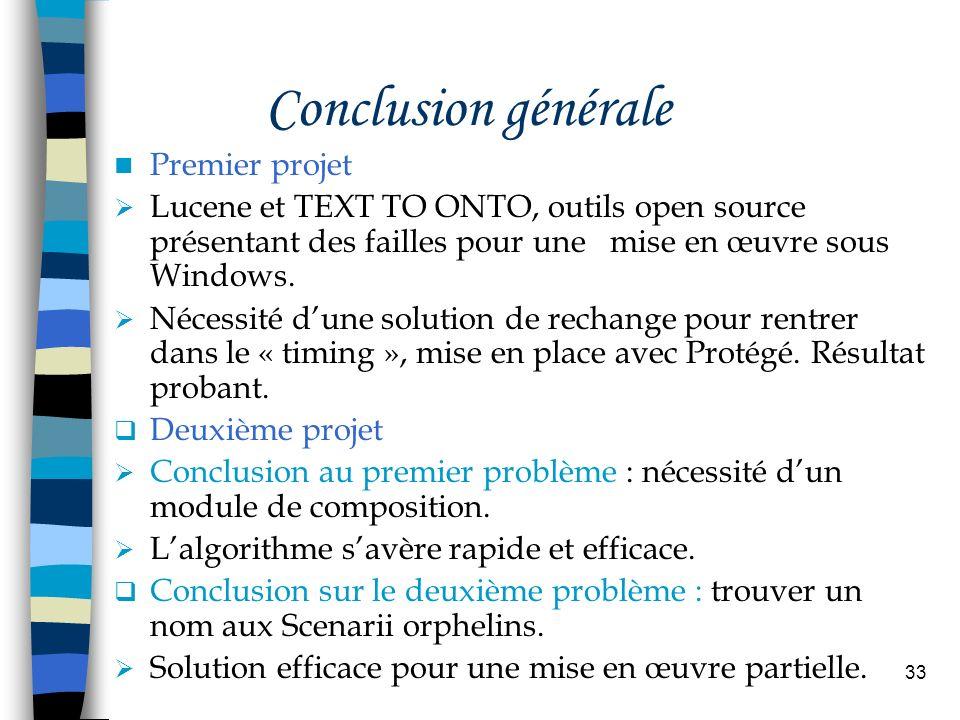 Conclusion générale Premier projet