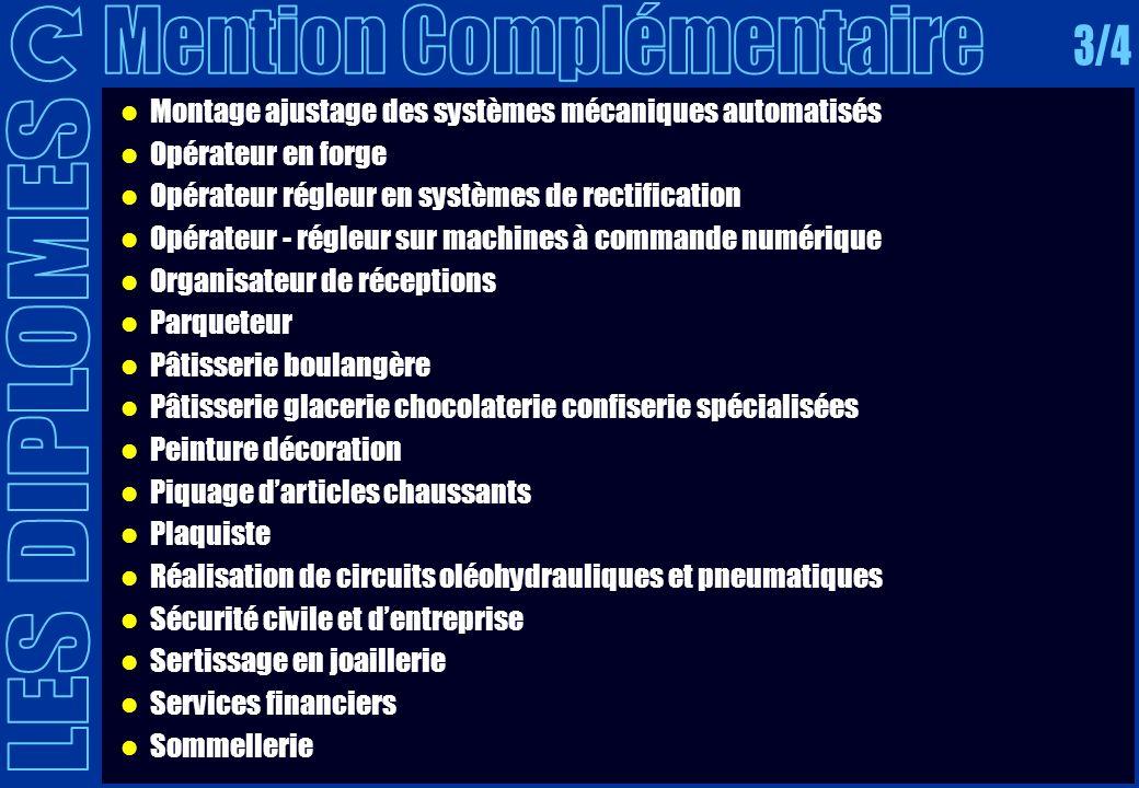 Mention Complémentaire