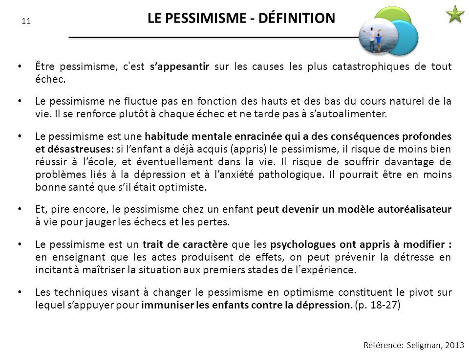 LE PESSIMISME - DÉFINITION