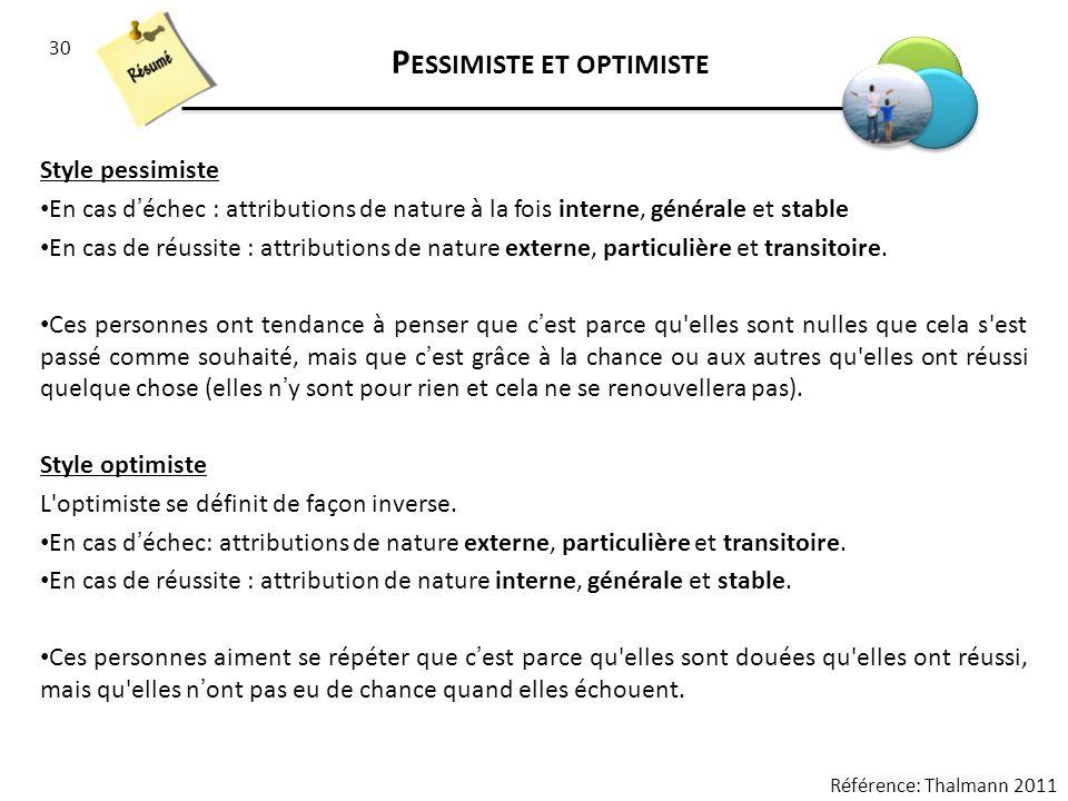 Pessimiste et optimiste