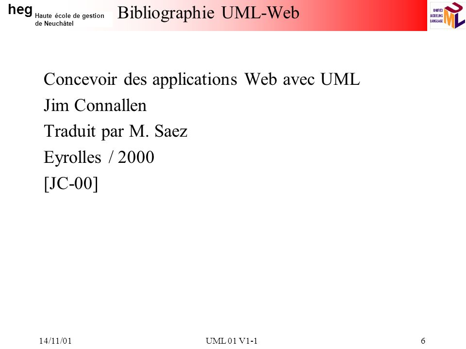 Bibliographie UML-Web