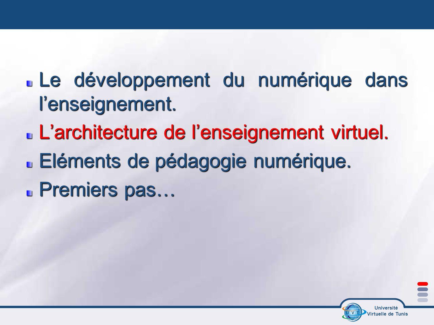 Le développement du numérique dans l'enseignement.