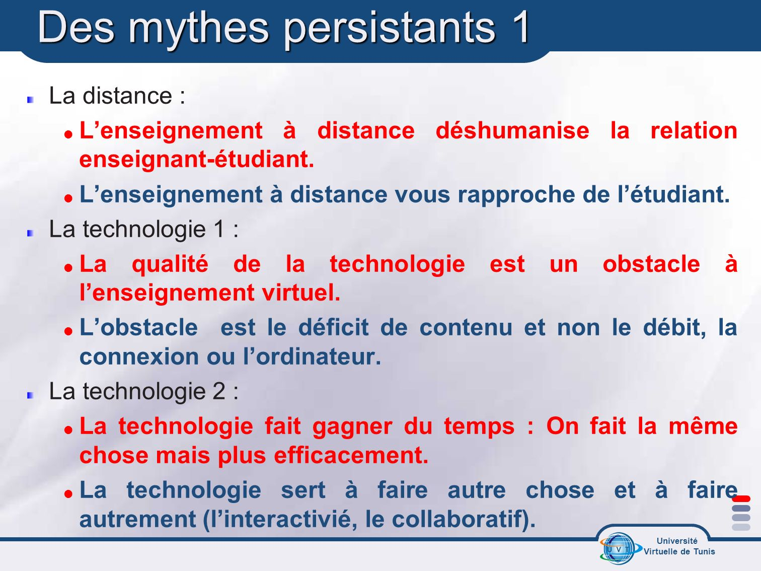 Des mythes persistants 1