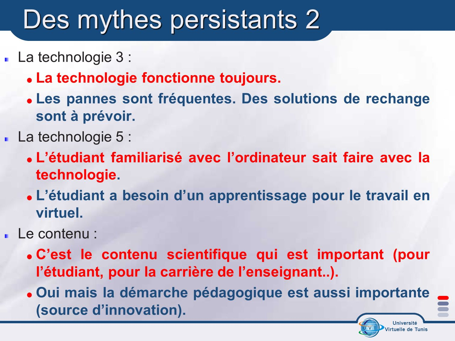 Des mythes persistants 2