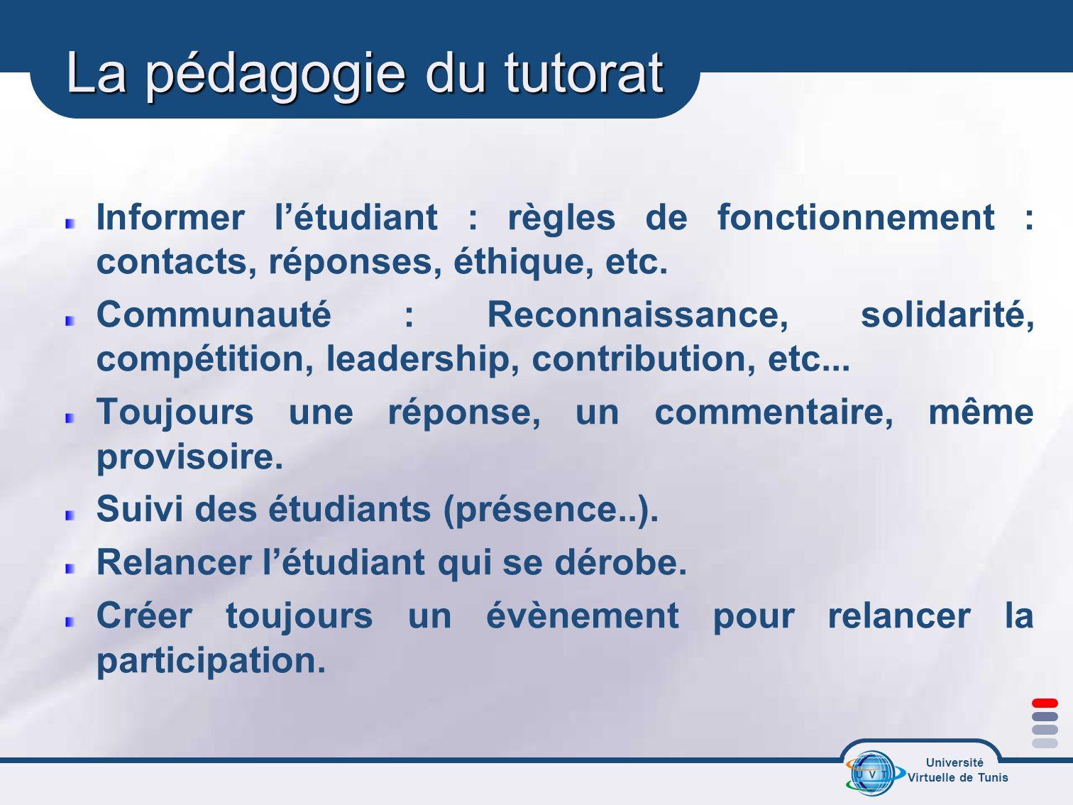 La pédagogie du tutorat