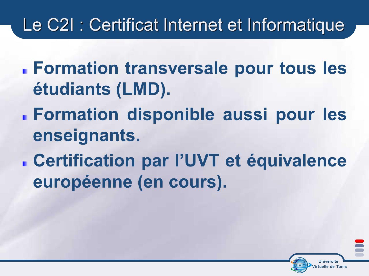 Le C2I : Certificat Internet et Informatique