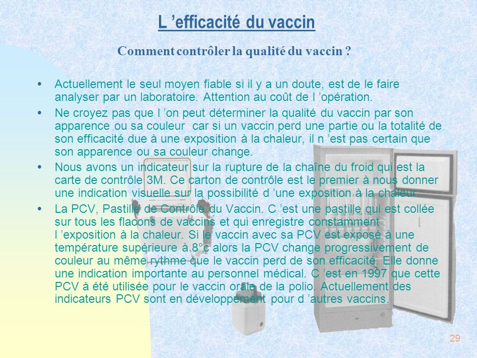 L 'efficacité du vaccin