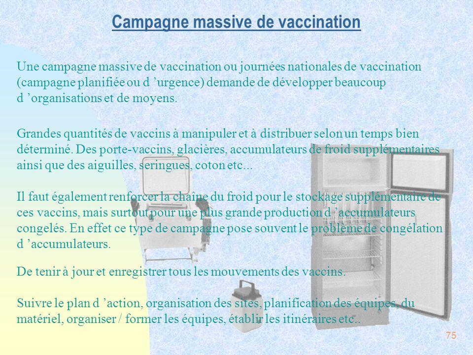 Campagne massive de vaccination