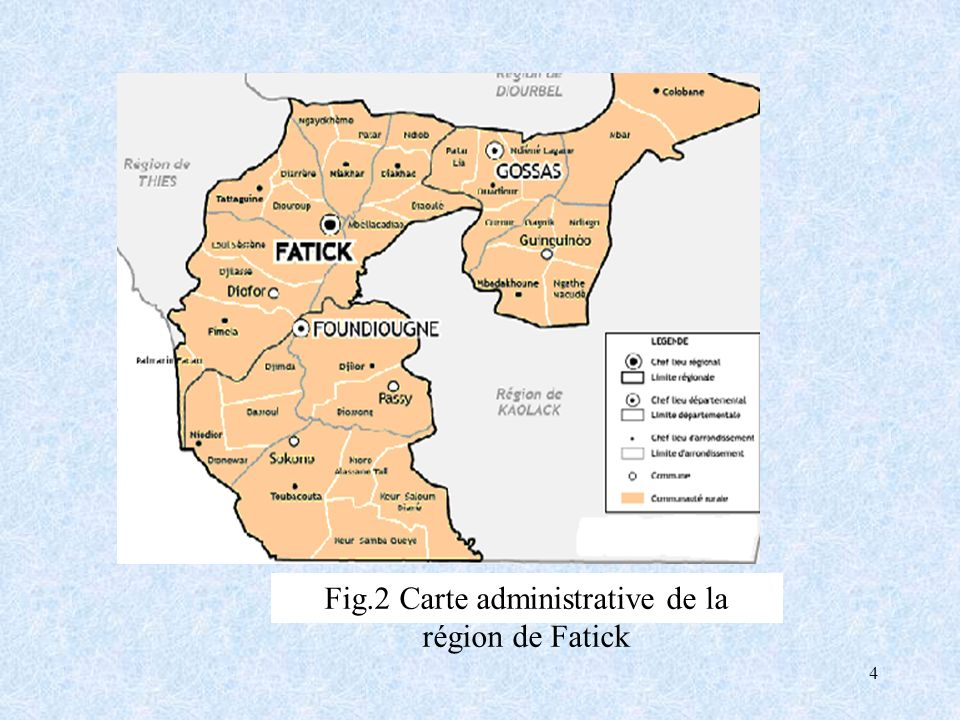 Fig.2 Carte administrative de la région de Fatick