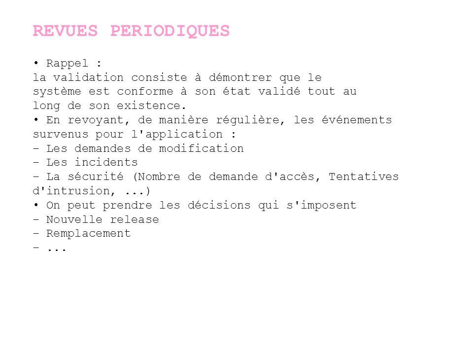 REVUES PERIODIQUES • Rappel :