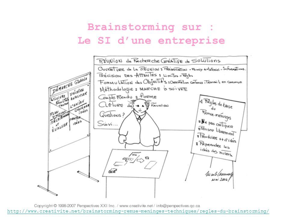 Brainstorming sur : Le SI d'une entreprise