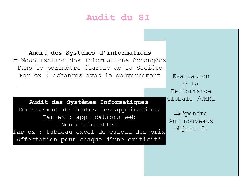 Audit des Systèmes d'informations Audit des Systèmes Informatiques