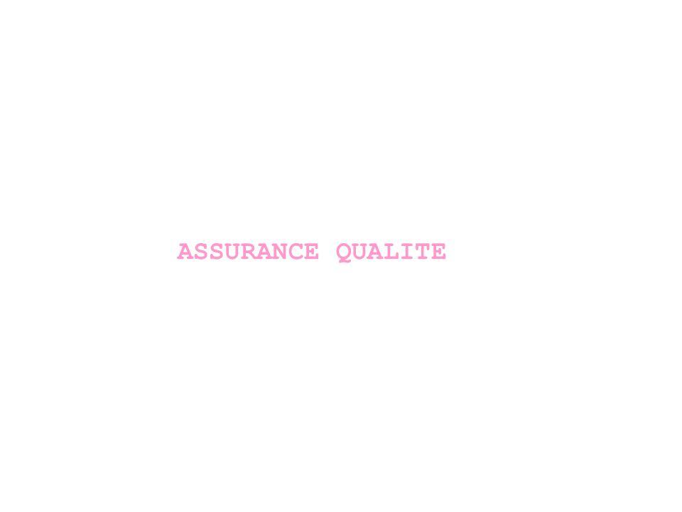ASSURANCE QUALITE