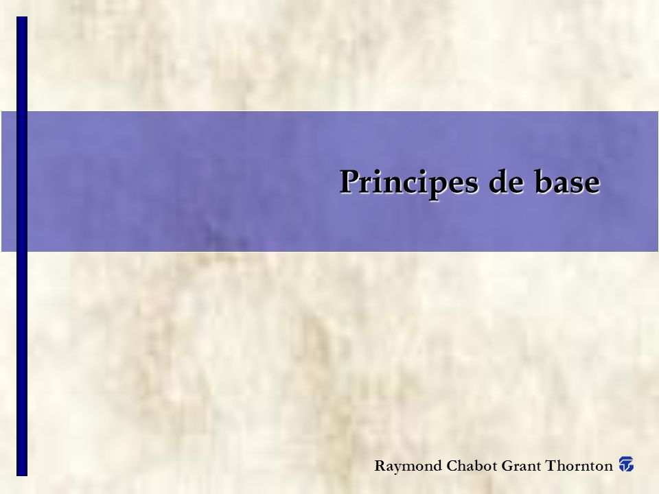 Principes de base COMMENTAIRES.