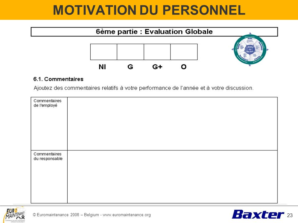 MOTIVATION DU PERSONNEL
