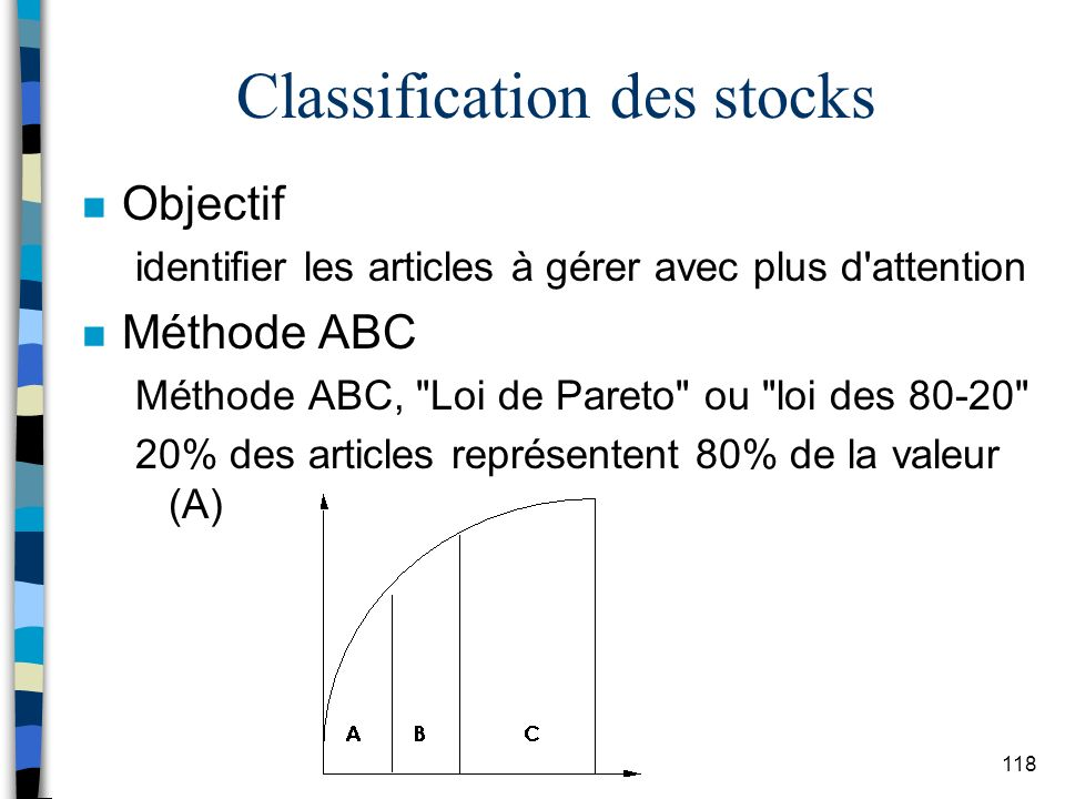 Classification des stocks
