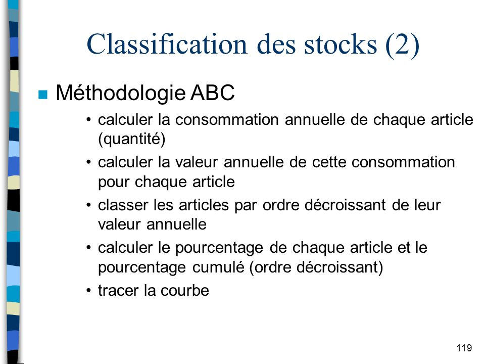 Classification des stocks (2)