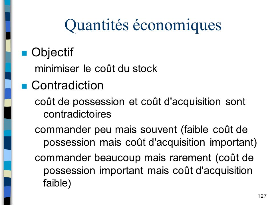 Quantités économiques