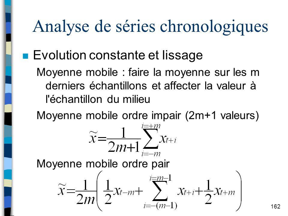Analyse de séries chronologiques