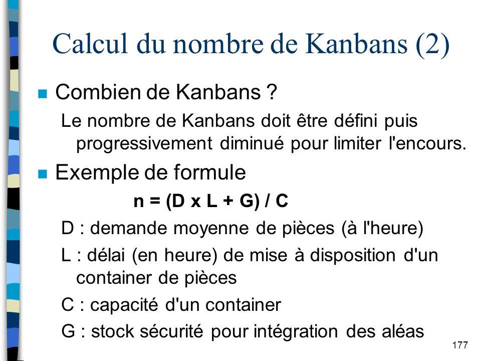 Calcul du nombre de Kanbans (2)