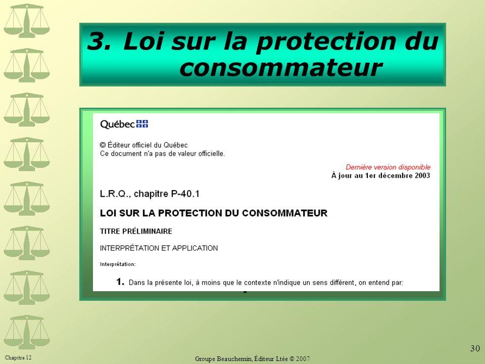 Loi sur la protection du consommateur
