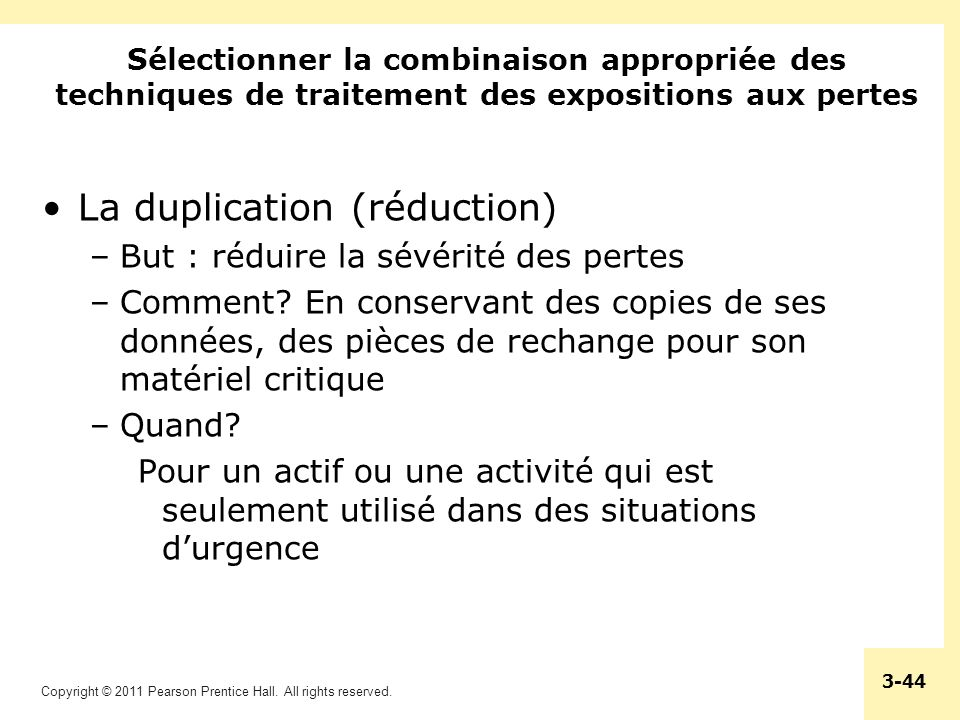 La duplication (réduction)