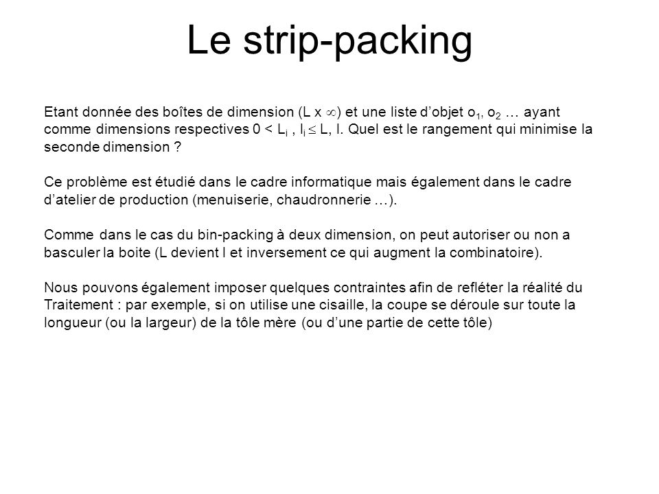 Le strip-packing