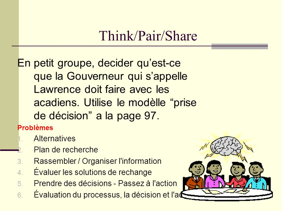 Think/Pair/Share