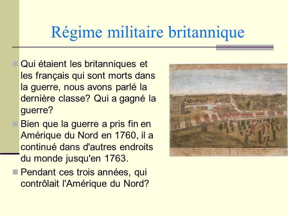 Régime militaire britannique