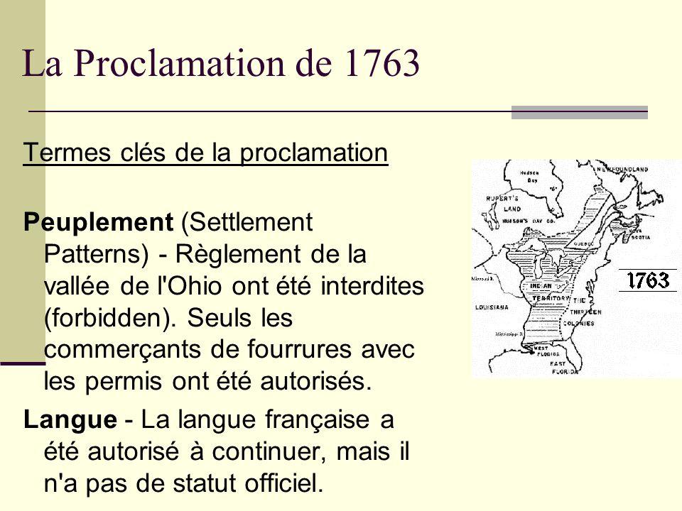 La Proclamation de 1763