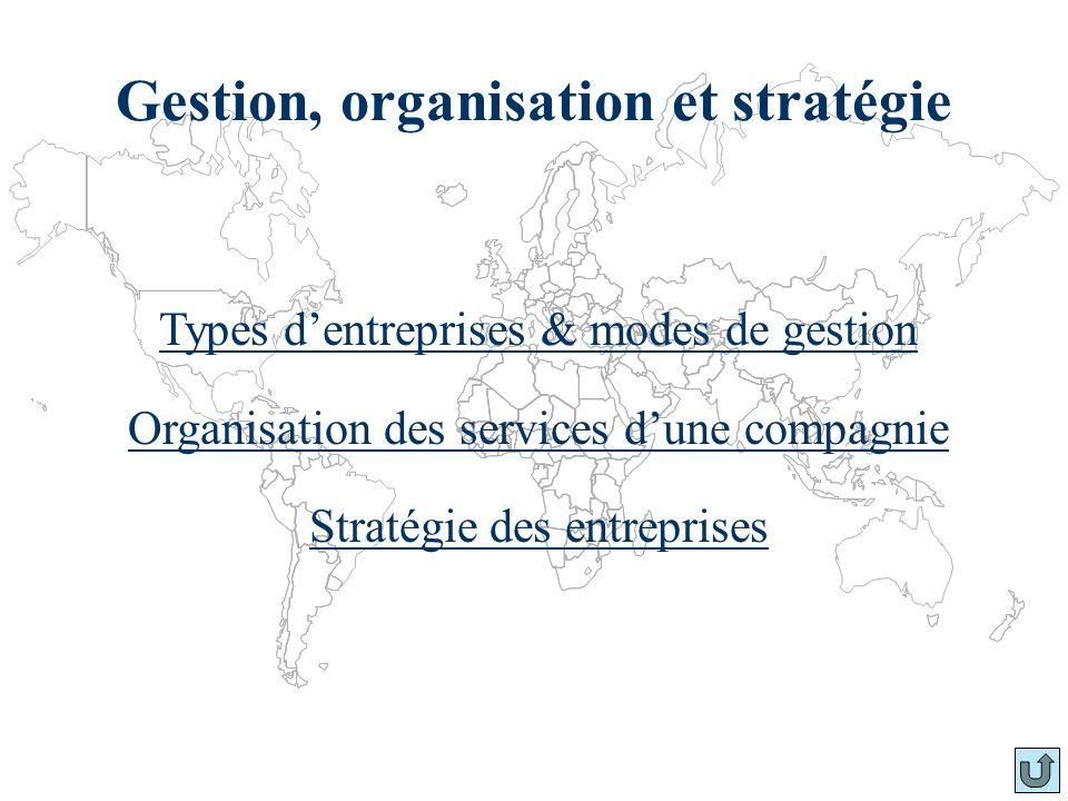 Gestion, organisation et stratégie