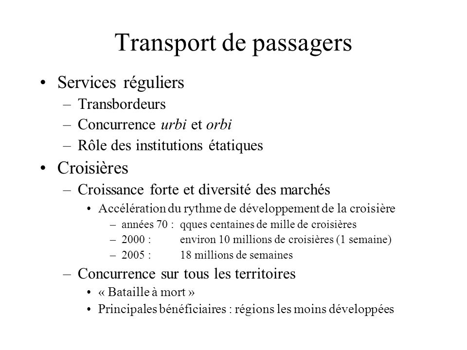 Transport de passagers