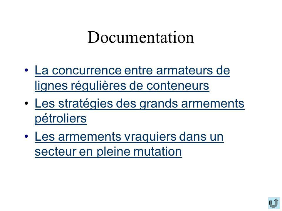 DocumentationLa concurrence entre armateurs de lignes régulières de conteneurs. Les stratégies des grands armements pétroliers.