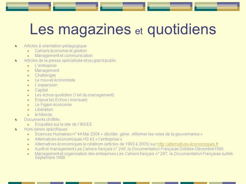 Les magazines et quotidiens