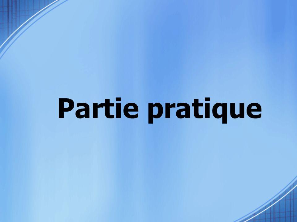 Partie pratique