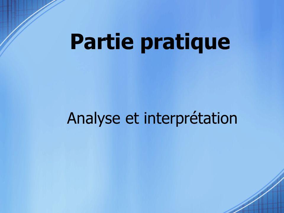 Analyse et interprétation