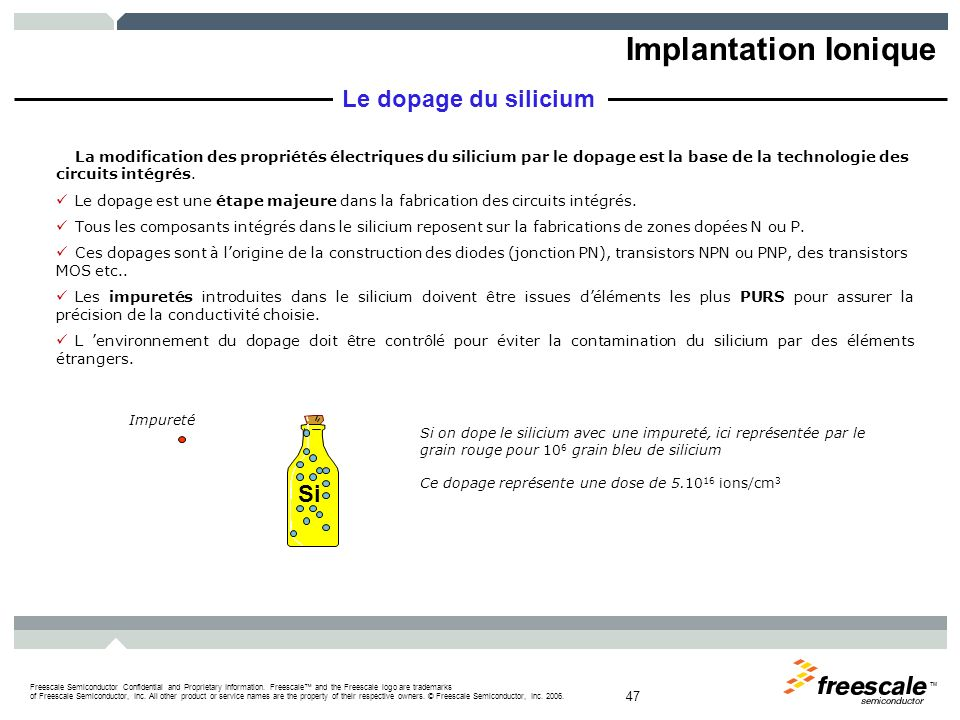 Implantation Ionique Le dopage du silicium Si 3/30/2017