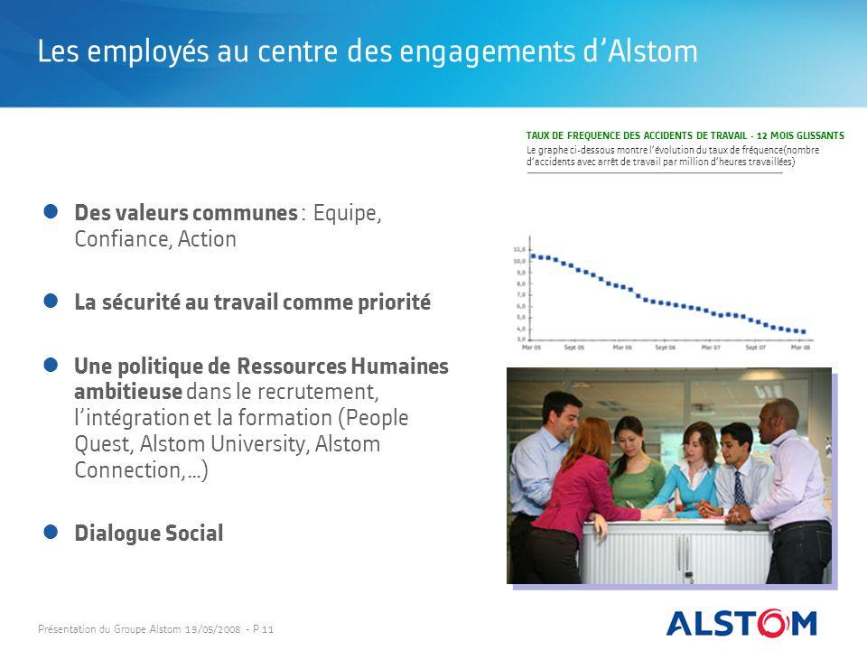 Les employés au centre des engagements d'Alstom