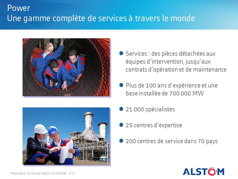 Power Une gamme complète de services à travers le monde